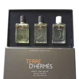 Мужской подарочный набор Hermes 3 парфюма по 12.5 ml